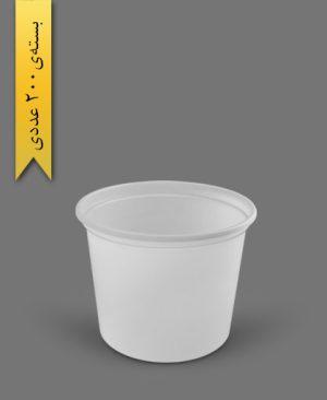 سطل ماستی 2700cc - ps - 40gr - ظروف یکبار مصرف پیشگامان