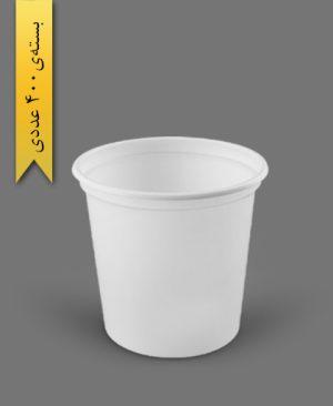 سطل ماستی 800cc - ps - 12gr - ظروف یکبار مصرف پیشگامان