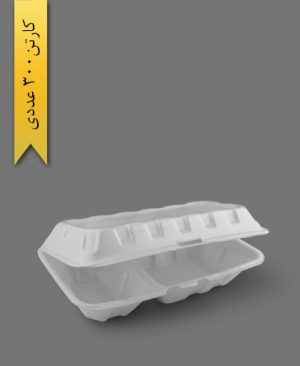فوم دو خانه - ظروف یکبار مصرف پارت نگین