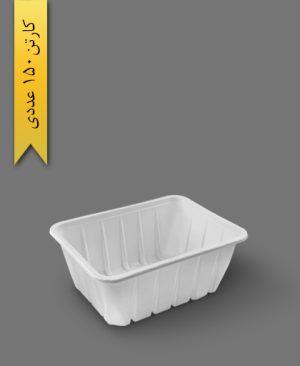 جا گوشتی بلند سفید - ظرف یکبار مصرف تاب فرم