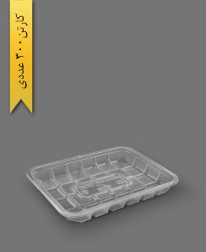 جا گوشتی کوتاه شفاف - ظرف یکبار مصرف تاب فرم