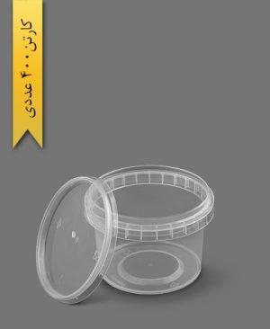 سطل ماکروویو 300cc شفاف - ظروف یکبار مصرف پولاد پویش