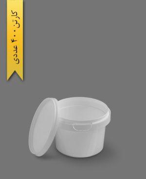 سطل ماکروویو 300cc سفید - ظروف یکبار مصرف پولاد پویش