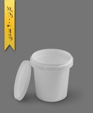 سطل ماکروویو 400cc سفید - ظروف یکبار مصرف پولاد پویش