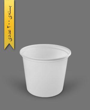 سطل ماستی 3000cc - ps - 40gr - ظروف یکبار مصرف پیشگامان