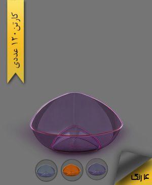 پیاله سه گوش 1200 رنگی لونا - ظروف یکبار مصرف کوشا