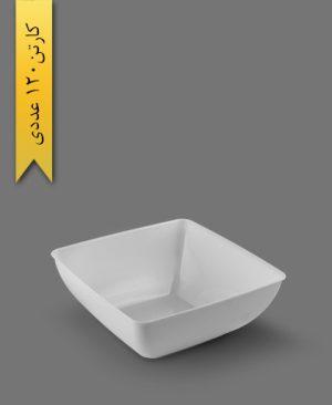پیاله چهارگوش لوکس 1200cc سفید - ظروف یکبار مصرف کوشا