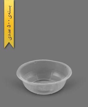 کاسه 500cc شفاف - ظروف یکبار مصرف رویا پلاستیک
