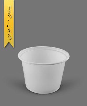 ماستی 2700cc شیری - ظروف یکبار مصرف رویا پلاستیک