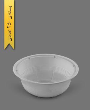 کاسه 1000cc شیری حدادی - ظروف یکبار مصرف رویا پلاستیک