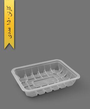 جا گوشتی کوتاه شفاف - ظرف یکبار مصرف رویا پلاستیک