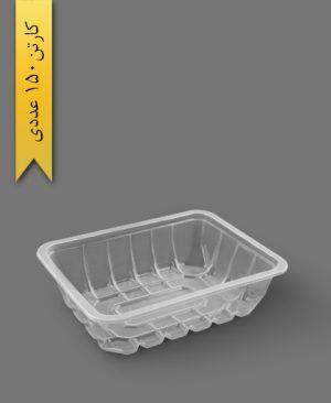 جا گوشتی بلند شفاف - ظرف یکبار مصرف رویا پلاستیک