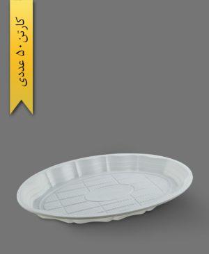 دیس بیضی بزرگ گود شیری - ظروف یکبار مصرف رویا پلاستیک