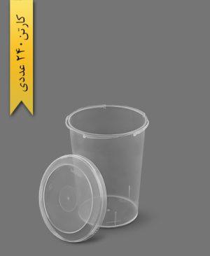 سطل ماکروویو 535cc شفاف - ظروف یکبار مصرف پولاد پویش