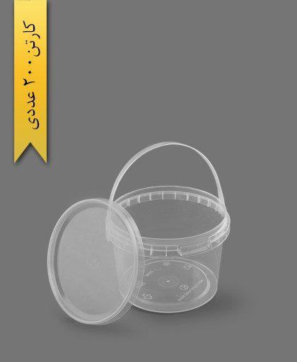 سطل b 610 با درب - ظروف یکبار مصرف طب پلاستیک