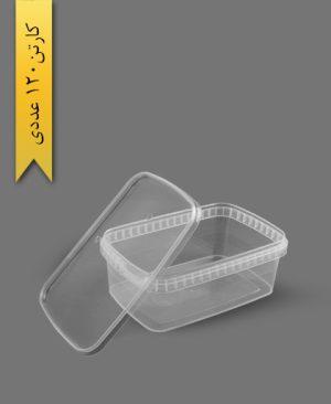 ظرف مایکروویو M1200 با درب - ظروف یکبار مصرف طب پلاستیک